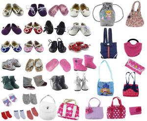 Random Lot Doll Accessory,5 shoes+5 bags+5 socks Fit 18 Inch American Girl Doll