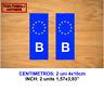 MATRICULA BELGIUM UNION EUROPEA VINILO PEGATINA VINYL STICKER DECAL AUFKLEBER