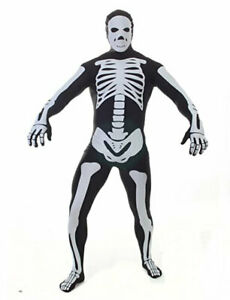 2nd Skin X-Ray Skeleton Suit Bodysuit Costume Adult Halloween Morphsuit - NEW!