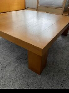 Wooden table for coffee used