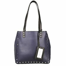 Nine West Women's Leather Shoulder Bag - Navy blue