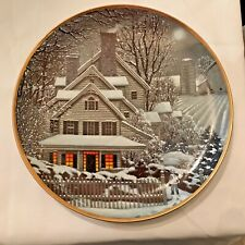 "Franklin Mint ""Winter Home"",Porcelain Plate Limited Edition #G8818,Coa"