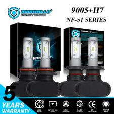 IRONWALLS Combo H7 9005 LED Headlight Bulbs Kit for Suzuki Grand Vitara 2006-13