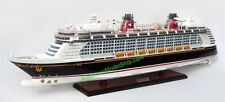 "DISNEY FANTASY Cruise Ship Model 40"" - Handcrafted Wooden Model NEW"