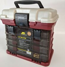 """Plano 4-Byâ""""¢ Rack System 3500 Tackle Box - Red Metallic/Silver"""