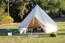5M Canvas Tent Bell Tent Yurt British Tent Camping 8-10 persons Beach Tipi Tents