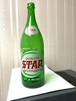 Vintage Soda Pop Beverage Bottle - Star - 32 oz - Wilkes-Barre, Pa.
