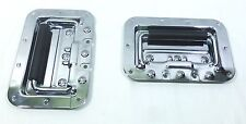 (2)Two Medium Chrome Plated Spring-Loaded Recessed Handles For ATA Road Cases.