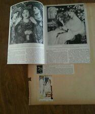 Vtg Rossetti Sir Edward Burne Jones 30s Museum ART 2 side Page Paper