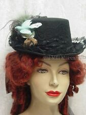 Victorian Style Riding Top Hat Back and seafoam green Edwardian Vintage new