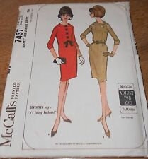 McCall's Pattern #7437 ~ Misses' Three Panel Dress ~ 1960's, Size 10,12