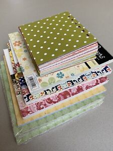 Paper Bundle - Stampin Up, Inque, Basic Grey - 6x6inch, 9x1