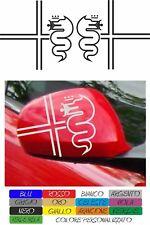 kit 2 adesivi alfa romeo calotte specchietto stickers 156 147 159 mito COD176