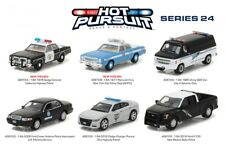 Greenlight 1/64 Hot Pursuit Series 24 Police Car Set - Six Models - CHP, NYPD ++