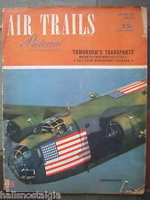 August, 1943 AIR TRAILS Street & Smith Pictorial - with Consolidated B-24 Cover