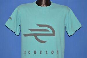 vintage 90s NIKE ECHELON CYCLING BIKING BIKE LOGO COMPANY BLUE t-shirt MEDIUM M