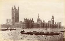 Angleterre, Londres, London, le palais de Westminster Vintage albumen print,
