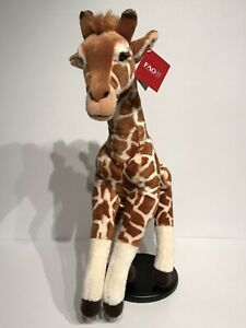 "FAO Schwarz 26"" Giraffe Plush Toy Stuffed Animal New With Tags"
