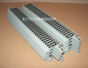 """BACHMANN NICKEL SILVER E-Z TRACK 9"""" STRAIGHT 10 PIECES HO SCALE NEW"""