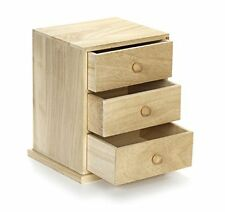 NEW Darice Unfinshed Wood Cabinet with Three Drawers FREE SHIPPING