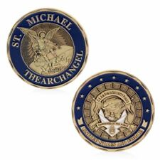 Saint Michael The Archangel Commemorative Challenge Coins Token Art Collection
