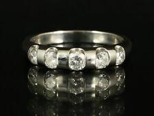 Eleganter Brillant Ring ca. 0,70ct   750/- Weißgold mit großer Ringweite 58 1/2