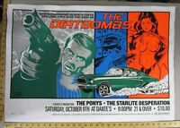 The DirtBombs Concert Rock Gig Poster Stainboy S/N 150 Mustang The Pony's Starli