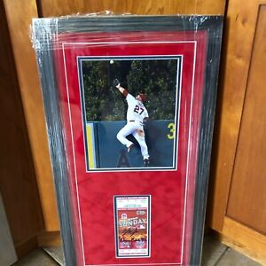 Mike Trout Framed Signed 2010 Future Ticket Collage Dream Come True 1/1 Holo MLB