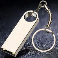 128M1G2G Portable Mini Metal Silver USB 3.0 Flash Stick Memory Drive Pen Stor,,