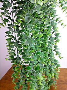 Long Artificial Succulent Eucalyptus Faux Hanging Plant Floral Bunch