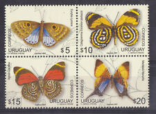 BUTTERFLY INSECTS South America species Uruguay MNH stamps #2213 cat value $8