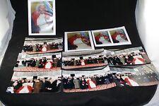 "POPE JOHN PAUL II VATICAN VISIT PHOTOGRAPH LOT 10 PC COLLECTION 8X11"" ORIGINAL"