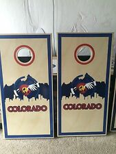 Never Summer Corn Hole Boards - Bean Bag Toss Game Colorado Corn Hole Boards