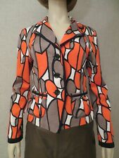 Joseph Ribkoff Colorblock Jacket Coat Button Front Classic Collar Sz 10 NWN $220