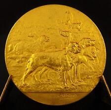 Médaille meute de chiens société canine de Guyenne et Gascogne Bordeaux 1933 dog