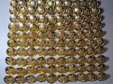 100 SOVIET UNION USSR RUSSIA MILITARY RED ARMY GOLD STAR UNIFORM BUTTONS 22 MM