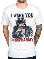 Official Kiss Uncle Sam I Want You T Shirt  KIss Army Rock Tour Merch Punk Indie