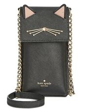Kate Spade Cat Cat's Meow north south crossbody iPhone phone case ~NWT~ Black