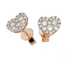 0.70ct F VS Diamond Heart Earrings in 18ct Rose Gold