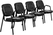 4pcs Waiting Room Reception Chair Office Guest Chair Conference Chair Pu Leather