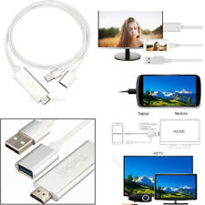 Mini USB MHL To HDMI 1080P TV Adapter Cable HD For Galaxy S8 S7 S6 iPhone 8 x 7
