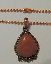 """Attractive Brazilian Bloodstone Jasper 1-3/4"""" Copper Pendant & 18"""" Chain  BLON5B"""