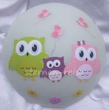 Wandlampe Eule Owl  Eulenfamilie 2  Lampe Wandleuchte Deckenlampe
