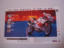 YAMAHA TZR 125 RR. 2 fogli MOTOSPRINT994-PUBBLICITA/'//ADVERTISING-1994