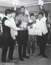 "BEATLES with CASSIUS CLAY  1964  8""x10"" B & W  Photo Copy BEA-15"