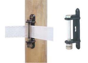 TAPE CORNER INSULATORS x 5 Electric Fencing Fence Bolt 40mm 20mm Insulator