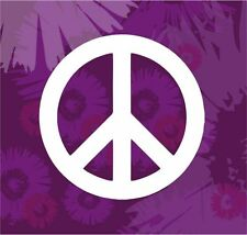 Peace Sign Red, Pink or White Car Vinyl Window Sticker Decal Silhouette