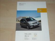 40648) Opel Meriva Zubehör Prospekt 07/2003