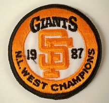 """SF Giants Vintage Embroidered Iron On Patch 1987 NL CHAMPIONS  2.5"""" x 2.5""""SALE"""