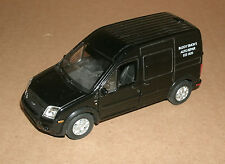 1/39 Scale Ford Transit Connect Panel Van Diecast Model - Welly 43631 Black